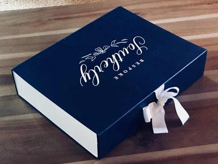 Bespoke Southerly logo box with bow
