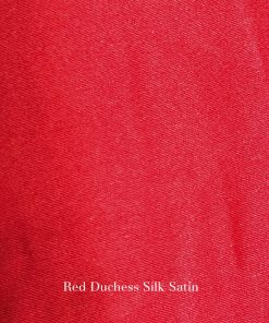 Red Duchess silk satin fabric swatch