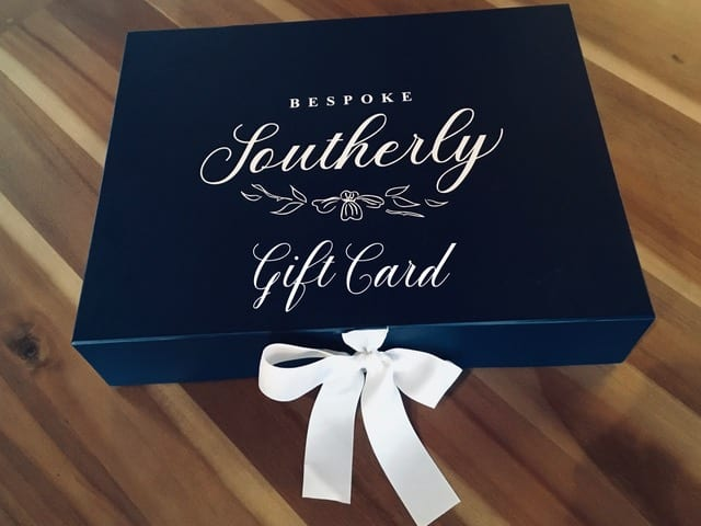 Bespoke Southerly Gift Card Box with bow image